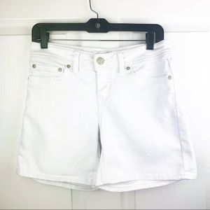 Seven7 Jeans White Jean Shorts